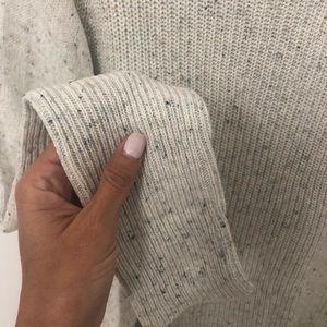 Cowl neck dolman Grey fall sweater